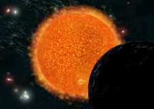 Sun. 3D Illustration main source to lifes of our solar system Stock Photo