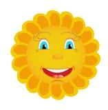 Sun. Fanny cartoon sun is smiling Royalty Free Stock Photos