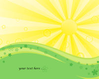 Sun. Summer sun landscape picture to your text Royalty Free Stock Image