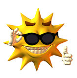 Sun. Illustration of an cute sun Royalty Free Stock Images