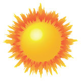 Sun. The fantastic closeup of a burning, exploding sun Stock Images