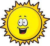 Sun. A smiling happy yellow sun Stock Photography