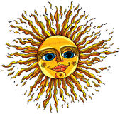 Sun. Vector vintage style illustration Stock Images