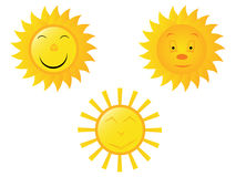 Sun. Smiley or icon Royalty Free Stock Images