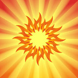 The Sun. The picture of stylized Sun with rays Royalty Free Stock Image