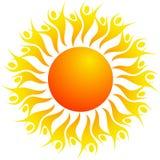 Sun. Illustration of sun design isolated on white background Stock Illustration