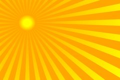 Sun. The hot summer sun background (vector, illustration Royalty Free Stock Photography