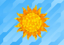Sun. Vector Illustration of Abstract Sun of Geometric Shapes Stock Photography