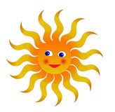 Sun. Cheerful orange sun for design vector illustration