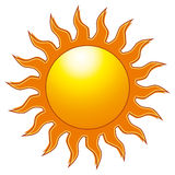 The Sun. A vector illustration of the sun Royalty Free Stock Images