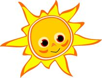 Sun. Vektor illustration of smiling sun Royalty Free Stock Photo