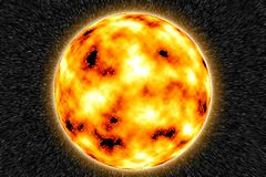 Sun. COMPUTER GENERATED BACKGROUND GRAPHIC Stock Photo