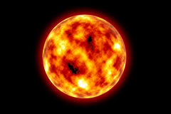 Sun. The sun on a black background Royalty Free Stock Image