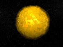 Sun - 3D rinden stock de ilustración