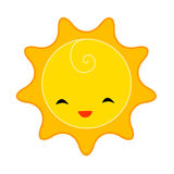 Sun. Cute smiling sun illustration / clipart Royalty Free Stock Image