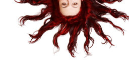 Sun. A face as a Sun, with hair as red rays Stock Image