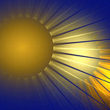 Sun. Abstract sun on navy background royalty free illustration