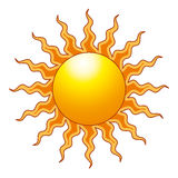 The Sun. A vector illustration of the sun Stock Photo