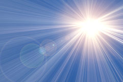 Sun. Shine in blue sky royalty free illustration