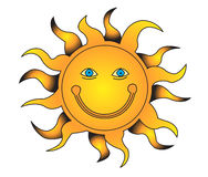 Sun. A vector illustration of the sun Royalty Free Stock Photo