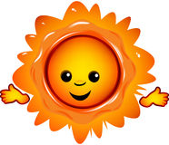 Sun. Original file was created in Adobe Illustrator Royalty Free Stock Photos