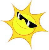 Sun. A happy sun with a dark sunglasses Stock Photography