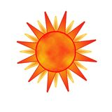 The sun. A drawing element of the sun Royalty Free Stock Photo