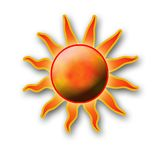 The sun. A drawing element of the sun Stock Image