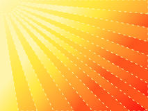 Sun. Hot red and yellow summer´s sun with striped beams Royalty Free Stock Photos