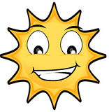 Sun. Happy Sun illustration with big eyes Royalty Free Stock Photography