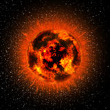 Sun. The sun glowing in the space Royalty Free Stock Photography