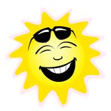 Sun. Smile with  glasses Royalty Free Stock Image