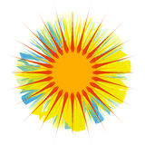 Sun. A stylistic sun illustration stock illustration