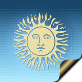 Sun. Illustration with sun of blue background royalty free illustration