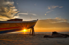 Sun abaixo Fotografia de Stock Royalty Free