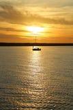 Sun abajo en el mar Báltico Fotos de archivo