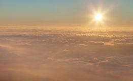 Sun above the clouds Stock Photo