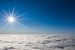 Sun above dense clouds Stock Image