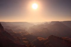 Sun above the Grand Canyon Royalty Free Stock Photography