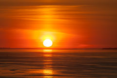 Sun above the horizon Stock Photography