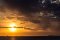 Sun above the horizon Stock Image