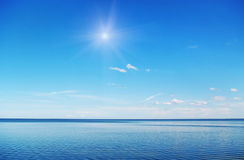 Sun above sea. Stock Images