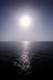Sun above sea horizon Stock Photo