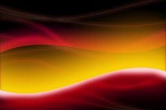Sun abstact I. Abstract texture curves in warm colors stock illustration