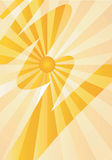 Sun_abstract_background. Yellow abstract  magic background, symbol of sunshine. Vector illustration Royalty Free Stock Photo