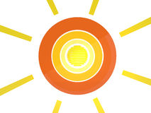 Sun abstract icon Royalty Free Stock Image