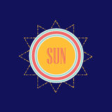 Sun. Abstract summer banner. Vector eps 10. Abstract summer banner. Vector eps 10 Royalty Free Stock Image