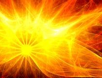 Sun-abstrakter Hintergrund Stockfoto