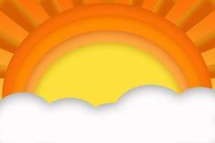 Sun abstrato e nuvens Ilustração Royalty Free