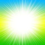 Sun abstrato está brilhando ilustração stock